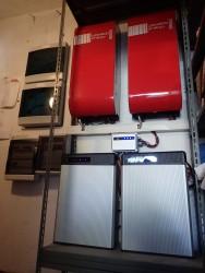 Impianto 6,72kWp con sistema accumulo Leonardo (2inverterx3kW) e 2 batterie Litio LG CHEM 6,5kWh